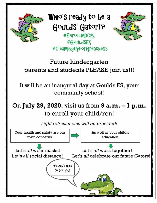 enroll day flyer